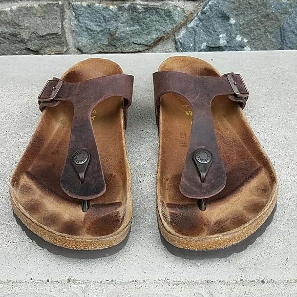 472f4bc280bc Birkenstock Shoes - Birkenstock Gizeh Habana oiled leather sandal
